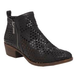 Women's Lucky Brand Basel Bootie Black Perforated Nubuck