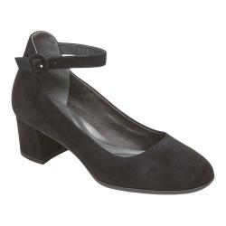 Women's Rockport Total Motion Novalie Ankle Strap Shoe Black Leather
