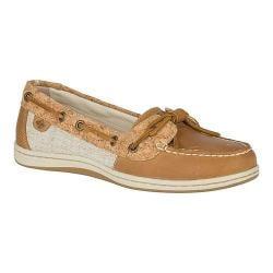 Women's Sperry Top-Sider Barrelfish Boat Shoe Tan Leather/Cork