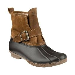 Women's Sperry Top-Sider Rip Water Boot Brown/Light Tan Leather Rubber