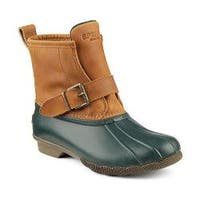 Women's Sperry Top-Sider Ripwater Thinsulate Duck Boot Green/Tan Rubber/Leather