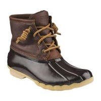 Women's Sperry Top-Sider Saltwater Duck Boot Tan/Dark Brown
