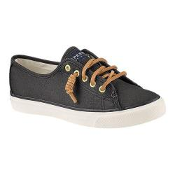 Women's Sperry Top-Sider Seacoast Canvas Sneaker Black Canvas