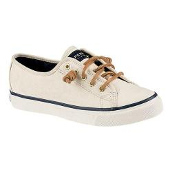Women's Sperry Top-Sider Seacoast Canvas Sneaker Ivory Canvas