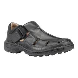Men's Timberland Altamont Fisherman Sandal Black Smooth Leather