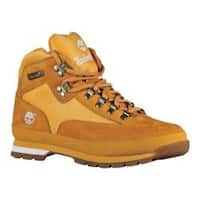 Men's Timberland Euro Hiker Leather and Fabric Wheat/White Full Grain Leather
