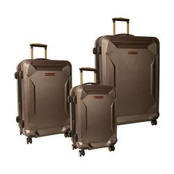 Timberland Fort Stark 3 Piece Luggage Set Brown