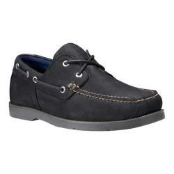 Men's Timberland Piper Cove Boat Shoe Black Nubuck
