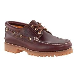 Men's Timberland Traditional Handsewn 3-Eyelet Classic Lug Burgundy Pull Up Leather