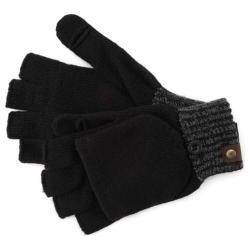 Men's A Kurtz Two Tone Knit Glove Black