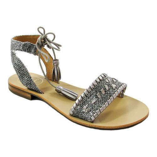 2ea2130ef Shop Women's Jack Rogers Tate Raffia Ankle Wrap Sandal Black/Pewter Leather  - Free Shipping Today - Overstock - 17633659