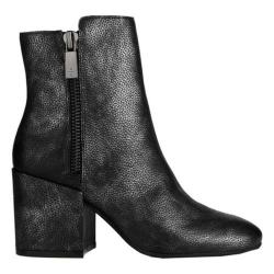 Women's Kenneth Cole New York Rima Ankle Boot Black Leather - Thumbnail 0