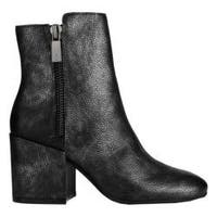 Women's Kenneth Cole New York Rima Ankle Boot Black Leather