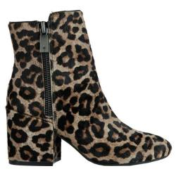 Women's Kenneth Cole New York Rima Ankle Boot Coffee Hair Calf