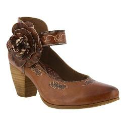 Women's L'Artiste by Spring Step Tosha Ankle-Strap Brown Leather