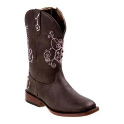 Girls' Nanette Lepore NL20366B Square Toe Cowgirl Boot Brown