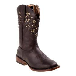 Girls' Nanette Lepore NL20383B Square Toe Cowgirl Boot Brown