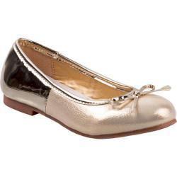 Girls' Nanette Lepore NL24530M Ballerina Flat Light Gold Metallic