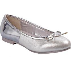 Girls' Nanette Lepore NL24530M Ballerina Flat Silver Mirror Metallic