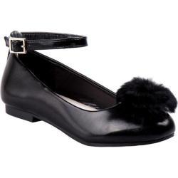 Girls' Nanette Lepore NL24992M Pom Pom Flat Black
