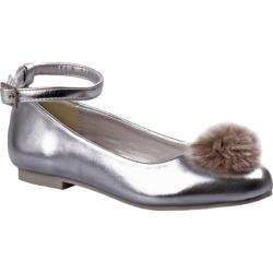 a7b14180b134 Shop Girls  Nanette Lepore NL24992M Pom Pom Flat Silver - Free ...