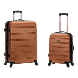 Rockland 2 Piece Expandable ABS Spinner Set F225 Brown