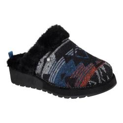 Women's Skechers Keepsakes High Snow Crown Clog Black/Turquoise