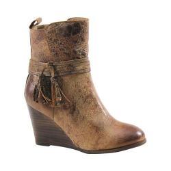 Women's Diba True Barn Storm Wedge Bootie Tan Distressed Vintage Leather