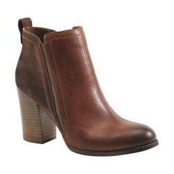 Women's Diba True Joy Joy Bootie Walnut/Chesnut Leather/Suede