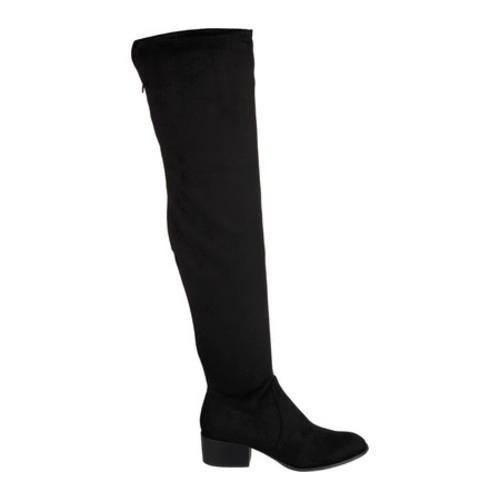 b8e30d88a88 Women s Kenneth Cole New York Adelynn Thigh High Boot Black Microfiber -  Free Shipping Today - Overstock.com - 23852411