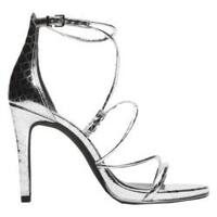 Women's Kenneth Cole New York Bryanna Strappy Sandal Silver Leather