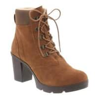 Women's Bearpaw Marlowe Lace-Up Ankle Boot Hickory/Chocolate Suede