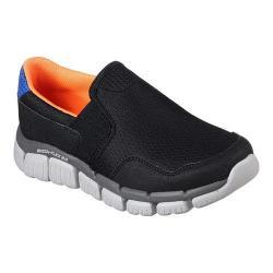 Boys' Skechers Skech-Flex 2.0 Wentland Slip-On Sneaker Black/Orange