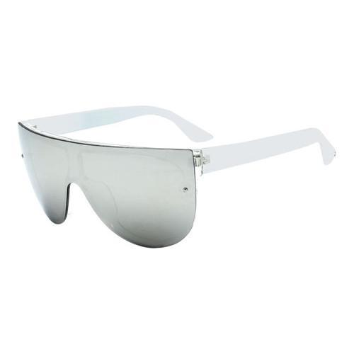 15a4df1cd1ae7 Shop Women s SWG Flat Top Bold Frame Reflective Aviator SWGTU6134RV White -  On Sale - Free Shipping On Orders Over  45 - Overstock - 17658609