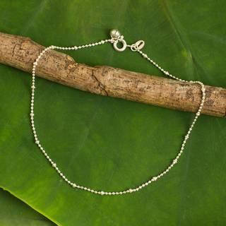Handmade Sterling Silver 'Siam Dancer' Anklet (Thailand)