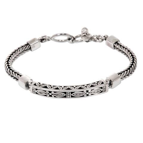 Handmade Sterling Silver Bali Bagus Bracelet (Indonesia)