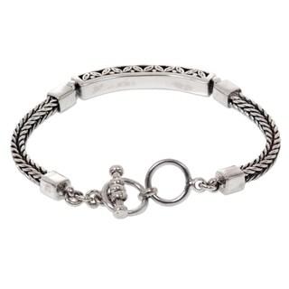 Handmade Sterling Silver 'Bali Bagus' Bracelet (Indonesia)