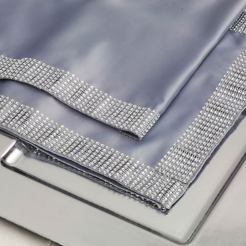 Silver Diamond Mesh Table Runner 12 x 72
