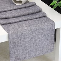 Aiking Home Natural Faux Linen Unlined Table Runner-Size 12''x 62'' Dark Grey