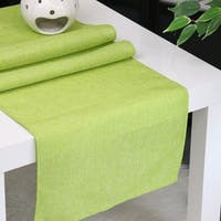 Aiking Home Natural Faux Linen Unlined Table Runner-Size 12''x 62'' Lime