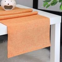 Aiking Home Natural Faux Linen Unlined Table Runner-Size 12''x 62'' Pumpkin