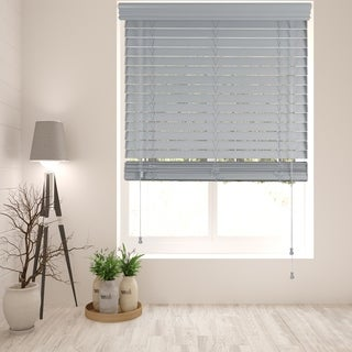 Arlo Blinds Light Grey Faux Wood Blind