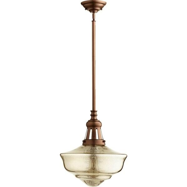 1-Light Pendant Oiled Bronze/Mercury
