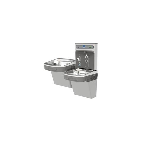 Elkay EZH2O Bottle Filling Station & Versatile Bi-Level ADA Cooler, Filtered 8 GPH Light Gray