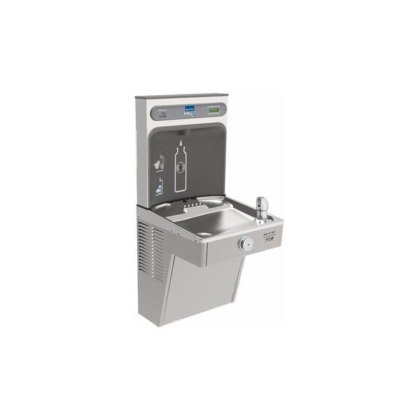 Elkay EZH2O Bottle Filling Station, & Single High Efficiency  Vandal-Resistant Cooler, Filtered 8 GPH Stainless