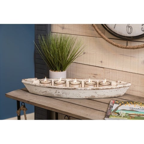 Havenside Home Buckroe Boat Candle Holder