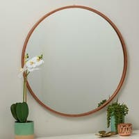 Daria Rose Gold Round Wall Mirror