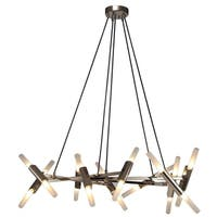 San Tropez Brown-finished Metal and Glass 48-watt 1-light 54-inch Linear Chandelier