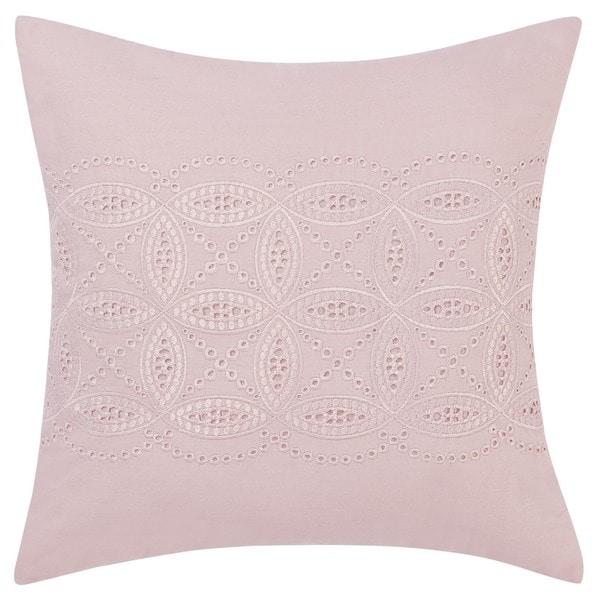 Laura Ashley Annabella Cutwork Embroidery Throw Pillow
