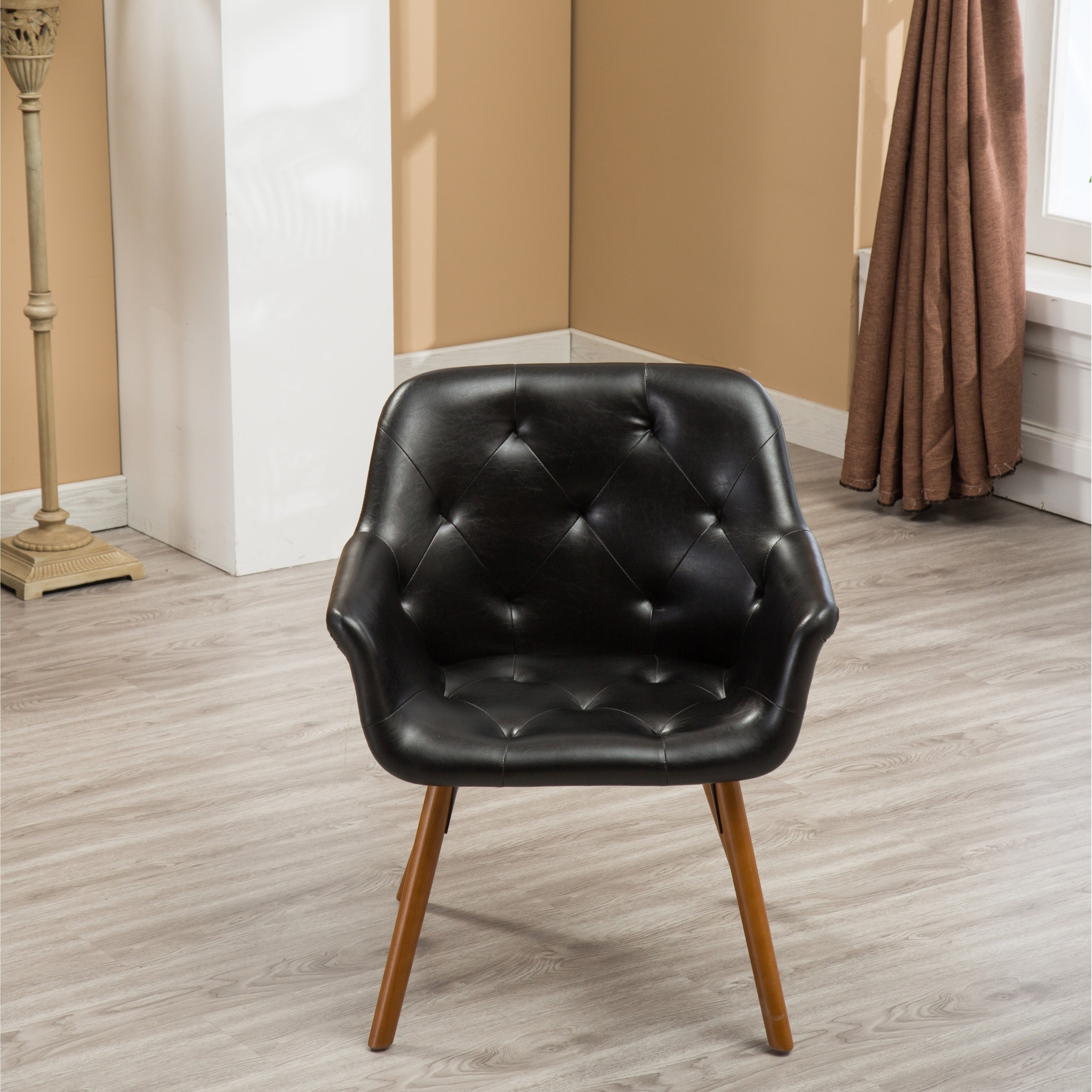 Shop Vauclucy Contemporary Faux Leather Diamond Tufted